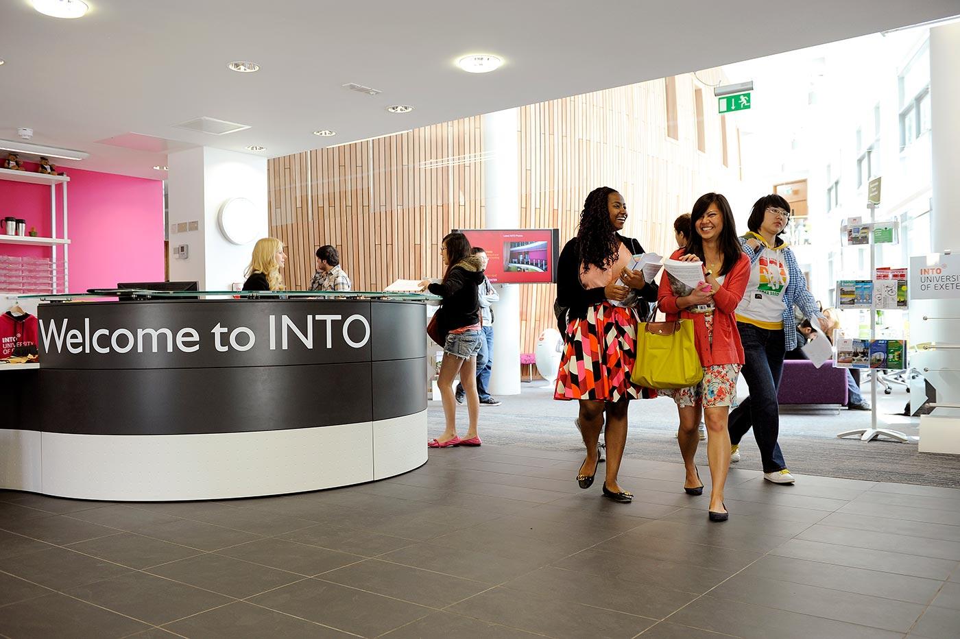 INTO reception area